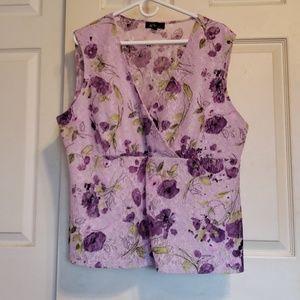 AGB woman lavender lace v neck Dressy  tank